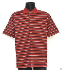 Men's Izod Performx Red Striped Golf Polo Shirt X-Large New NWT