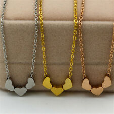 Three Heart Fashion Jewelry 1Pcs Women Stainless steel Charms Necklace Pendant
