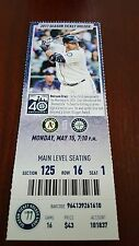 Tony Zych Save #1 Oakland Athletics A's Seattle Mariners 5/15/17 TICKET  (Cruz)