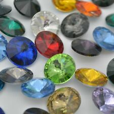 Mixed Colors Rivoli Round Rhinestones Point back Crystal Glass Strass Chatons
