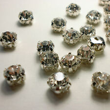 Crystal Clear Point back Rhinestone Settings Glass Sew On Claws Glass Chatons U1