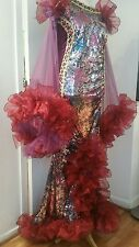 Brand new Drag Queen stage /sequin /costume Dress UK size 24/26/28 stretchy