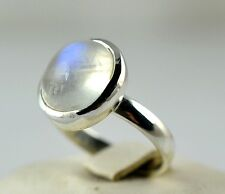 Rainbow Moonstone Ring 925 Solid Sterling Silver Handmade Jewelry Size F-Z1/2 AU