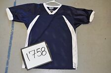 BLANK NAVY White Collar Flare Sides Fantasy Flag League Football Jersey 1758