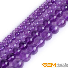 "Natural AAA Grade Light Purple Amethyst Round Beads For Jewelry Making 15""Strand"