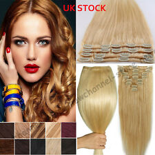 Silky Real Thick 90g-120g Clip in Human Hair Extensions Remy Hair Full Head C564