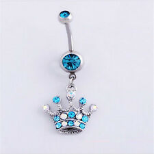 Rhinestones Navel  Ring 6 style Body 1Pcs Piercing Dangle Belly Button Jewellery