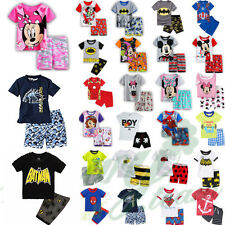 Kids Baby Boys Girls Short Sleeve T-shirts Tops Shorts Pant Outfit Clothes Set
