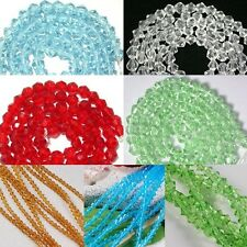 1 Strand 4mm Bicone Faceted Glass Crystal Spacer Bead Jewelry Making DIY Gift