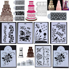 Lace Flower Cake Side Baking Stencil Cookie Fondant Wedding Cake Decorating Mold