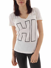 Local Celebrity T - Shirt Tee Top Hi Bye cream V-Neck Short Sleeve