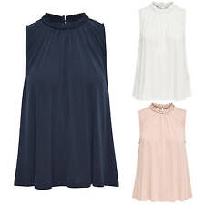 Ladies Shirt Blouse MARY S/L TOP Tunic oversize Summer blue white pink new