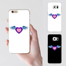 Fashion Heart Angel Wing Plastic Phone Case Cover for iPhone 5 Samsung S7 Pretty