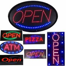 Vertical Open ATM PIZZA LED Lights Business Store Bar Retail Signs neon OY