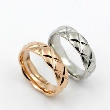 Size5~9 14K Gold Filled Stainless Steel Jewelry Plates Women's Rings 2 Colours
