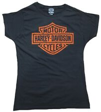 Official Harley Davidson Logo Bar & Shield Vintage Print VIP Women T-Shirt M L