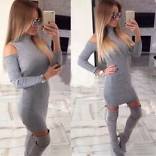 Womens Dress Hot Tight Thread Gray Bodycon 1pcs Mini Club New Tight Dress