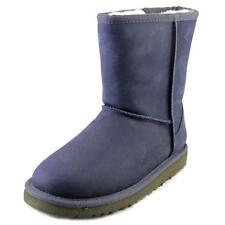 Ugg Australia Kids Classic Short Leather Youth  Leather Blue Winter Boot