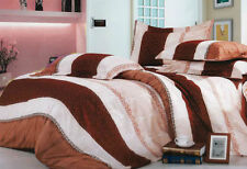 Oh Band Red Pink Quilt Cover Set/King Queen Geometric floral print Duvet Cover S