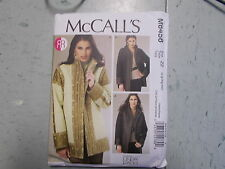 McCalls Pattern M6456 Ms LINDA CARR Reversible & Lined Jackets w/Trim Variations