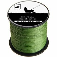 Army Green 300-1000M Strong Spectra Dyneema PE Braided Sea Fishing Line 8Strands