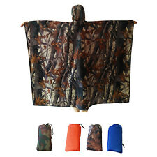 3 in 1 Waterproof Raincoat Hooded Poncho Mat Tent for Outdoor Hiking Cycling New