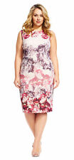 Adrianna Papell Sleeveless Floral Sheath Dress  Exposed Zipper - FINAL SALE
