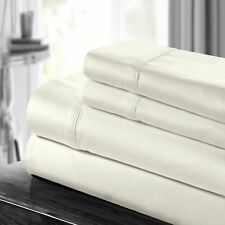 Chic Home 100% Cotton 500 Thread Count Sheet Set Beige Queen, King