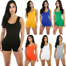 HOT Womens Stretchy Yoga Gym Playsuit Sports Rompers Jumpsuits Shorts Bodysuits