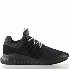 Women S76719 Adidas Radial Tubular Running shoes black white sneakers