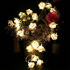 20 LED String Rose Flower Fairy Lights Indoor Christmas Xmas Party Bedroom 1445