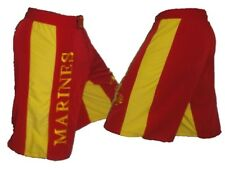 USMC Red and Gold Mixed Martial Arts Shorts MMA Fight Shorts