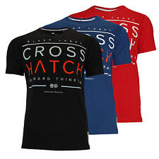 CROSSHATCH men's T-Shirt PRAIRIE CH RAISED PRINT T-Shirt in 3 colours