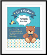 Personalized Birthday Its a Boy Baby Birth Announcement Plaque Print Shower Gift