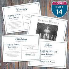 Personalised Blue & Grey Wedding / Evening Invitations / Save the Date / Website