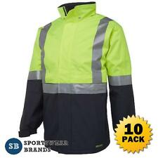 10 x Hi Vis Day Night Jacket 3M Tape Waterproof Workwear Safety Size S-5XL 6DATJ