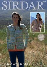 Sirdar Super Chunky Knitting Pattern For Ladies Cardgian - 8070