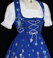 Dirndl Oktoberfest German Waitress SHORT Dress EMBROIDERY / 3 Pcs COMPLETE SET