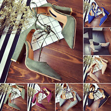 2017 New Style Kitten High Heels Suede toes Shoes Pumps Pointed shoes