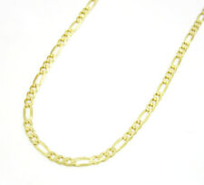 """Solid 14K Yellow Gold Figaro 2MM Chain Necklace & Bracelet 7"""",8"""" & 16"""" To 22"""""""