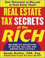 REAL ESTATE TAX SECRETS OF THE RICH - NEW PAPERBACK BOOK
