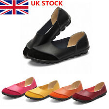 Womens Ladies Soft Loafers Casual Moccasins Leather Flats Sandals Business Shoes