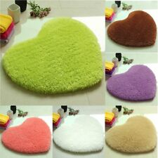 Non-slip Love Heart Floor Mat Pad Fluffy Soft Plush Area Rug Dining Room Carpet