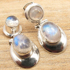 925 Sterling Silver Plated Natural Gemstone Choice NEW Earrings Birthday Present