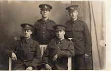 WW1 Royal Artillery Regiment Soldiers Military Army RP Postcard d1