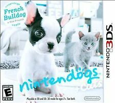 Nintendogs + Cats: French Bulldog & New Friends (Nintendo 3DS, 2011) COMPLETE