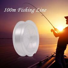 Nylon Clear White Thin Fishing Line 100m Fishing Line Casting Saltwater F7D4