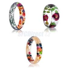 Transparent Bracelet Preserved in Resin Real Dried Flower Cuff Bangle Jewelry