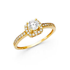 14k Yellow Gold 1.0 Ct Diamond Engagement/Wedding Ring Solitaire Round Cut