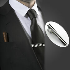 Mens Silver Stainless Steel Enamel Tie Clip Skinny Collar Bar Fashion Lot